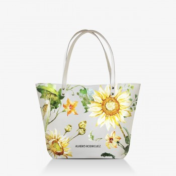 Shopper Bianca Sunflowers