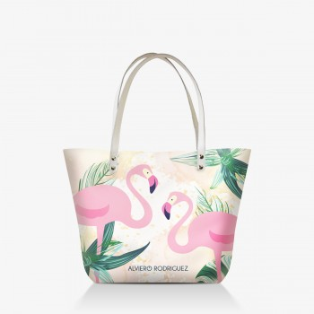 Shopper Bianca Flamingo
