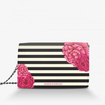 Borsa Bianca Glam Flowers