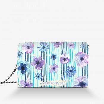 Borsa Bianca Blue Flower
