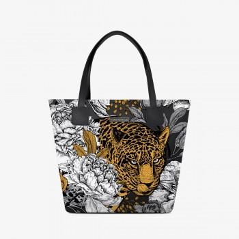 Shopper Deluxe Floral Leopard