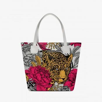 Shopper Deluxe Bianca Floral Leopard