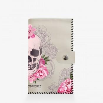 Portafogli Bianco Skull Roses
