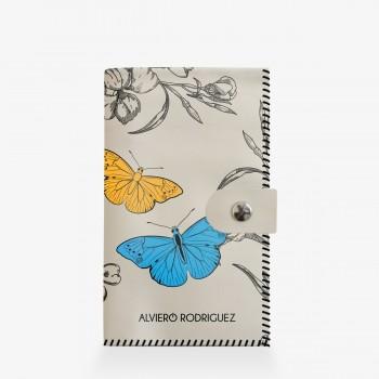Portafogli Bianco Vintage Butterfly