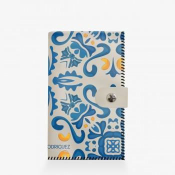 Portafogli Bianco Maioliche Blu