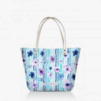 Shopper Bianca Blue Flowers