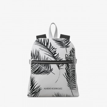 Zaino Zip Ecopelle Bianco Palm Beach