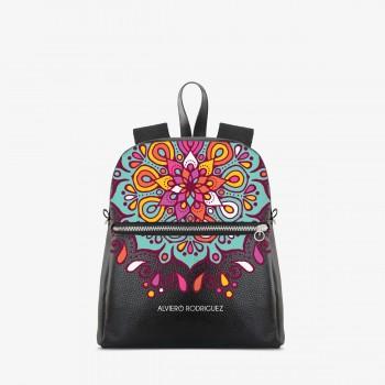 Zaino Zip Ecopelle Colorful Mandala