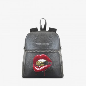 Zaino Zip Ecopelle Lips Bullet