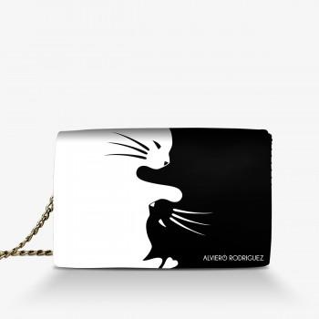 Borsa black & white cats