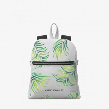 Zaino Zip Ecopelle Bianco Greenery