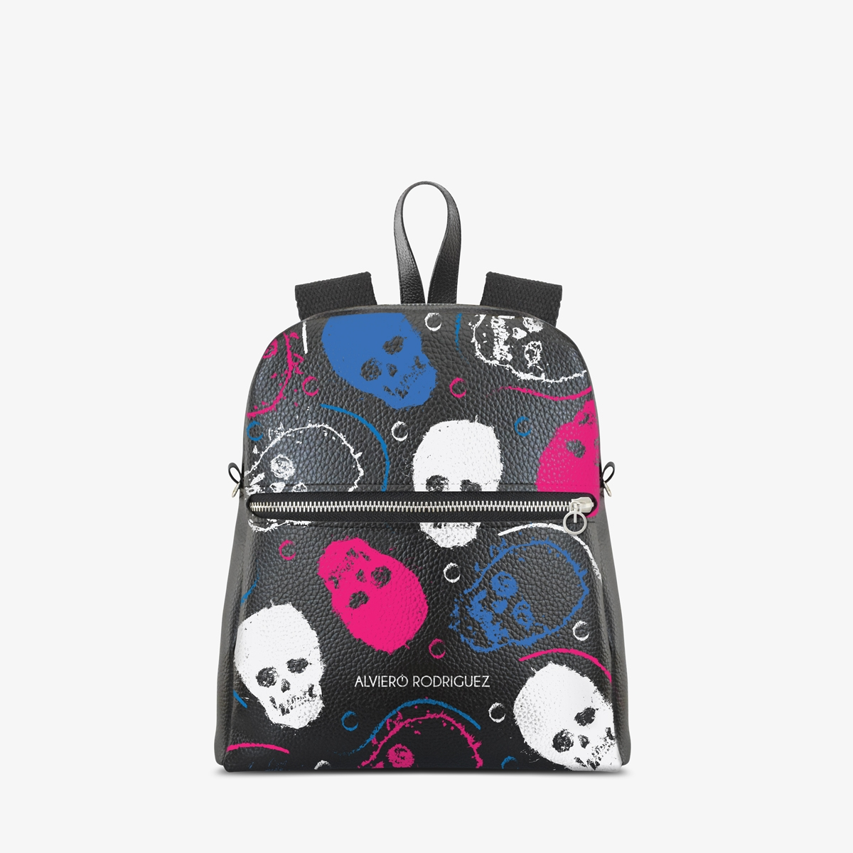 Zaino Zip Ecopelle Fashion Skull