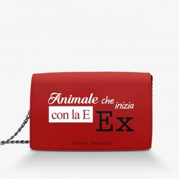 Borsa Rossa Animale con la E