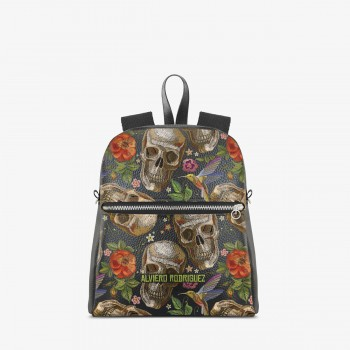 Zaino Zip Ecopelle Old Skull