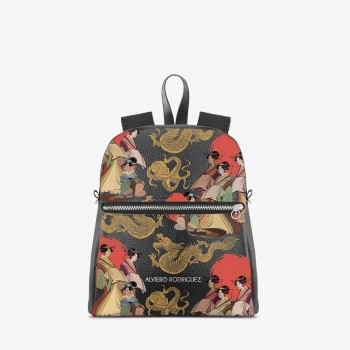 Zaino Zip Ecopelle Japanese Mood