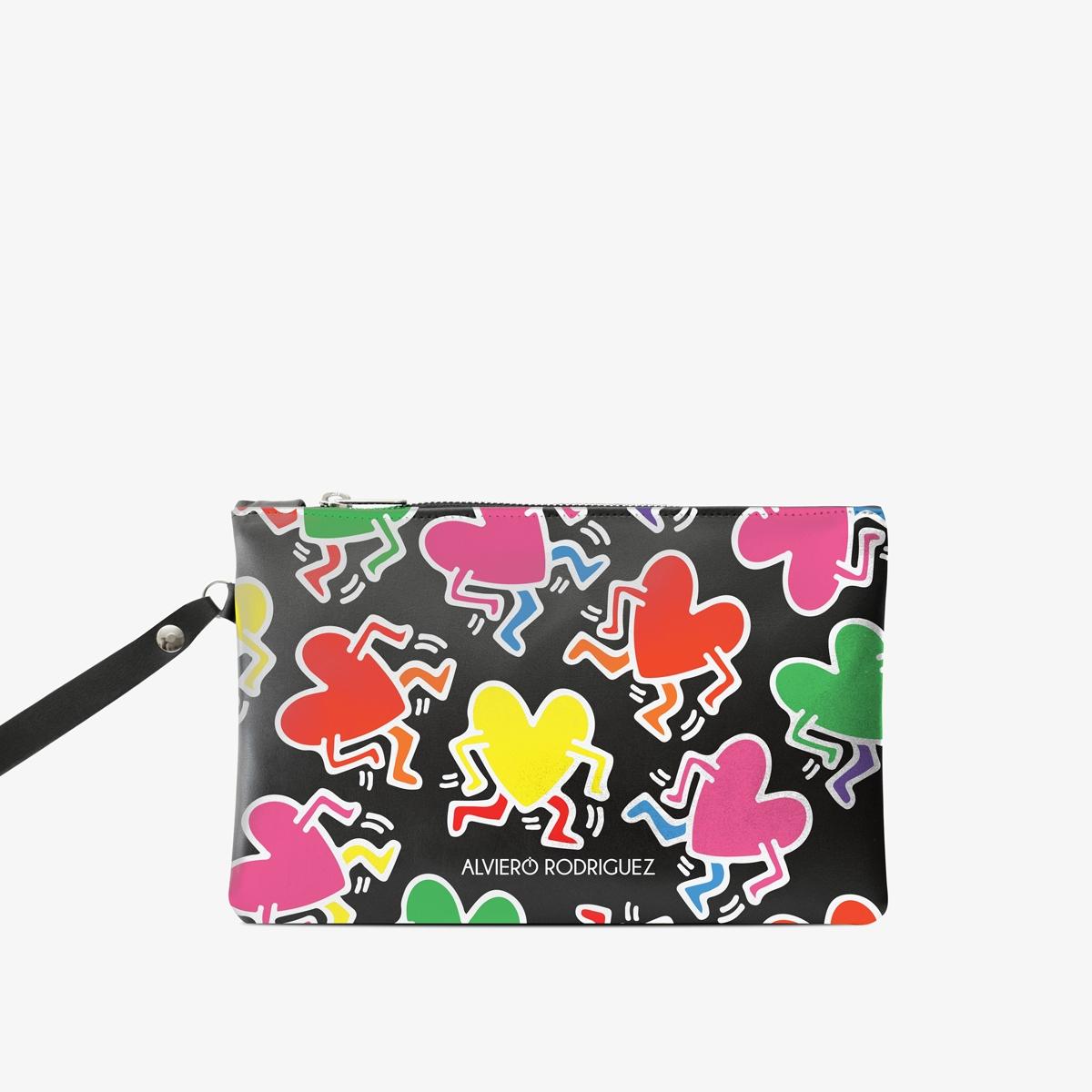 Pochette Haring Hearts