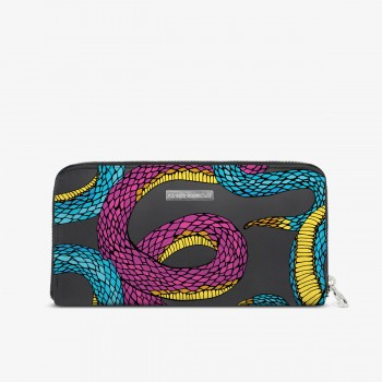 Portafogli Zip Eco Netting Snake