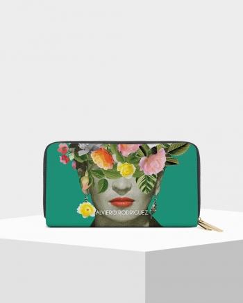 Double Zip Frida Flowers