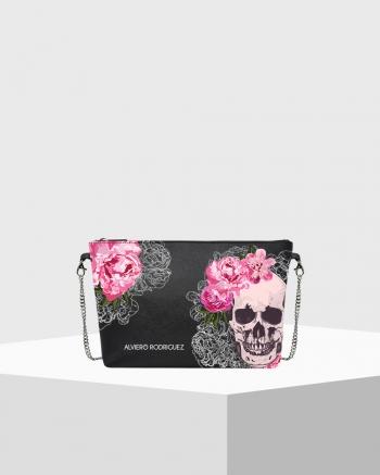 Diva Bag Saffiano Skull Roses