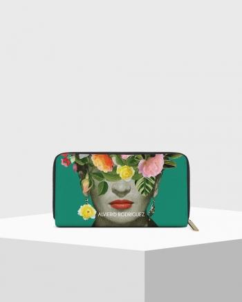 Frida Flowers Saffiano Zip...