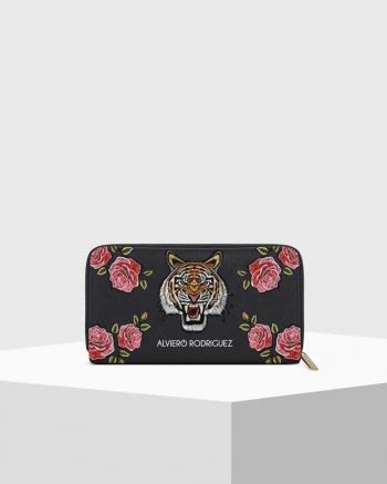 Wild Tiger Saffiano Zip Wallet