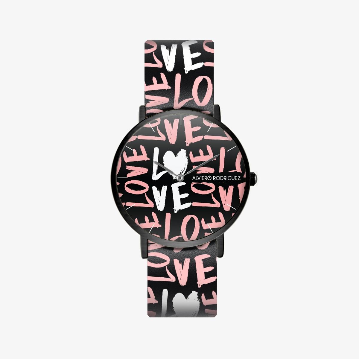 Orologio Lettering Love