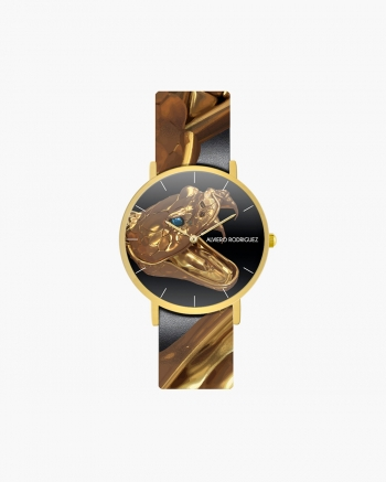 Black Gold Snake Watch
