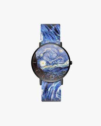 Black Starry Night Clock