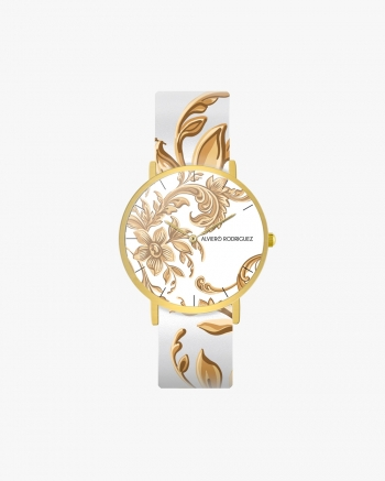 White Baroque Clock