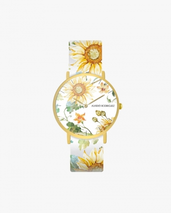 White Sunflower Clock