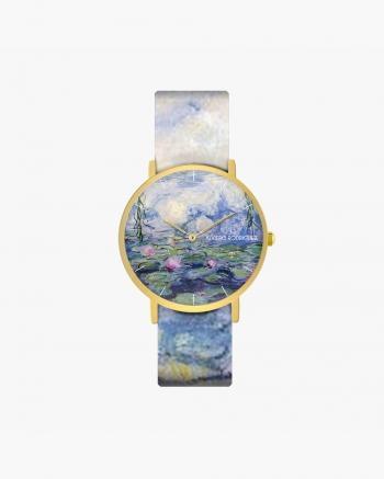 Water lilies clock