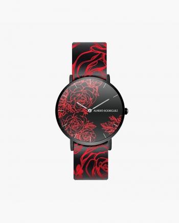 Black Roses Clock