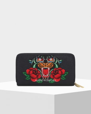 Double Zip Panther and Roses