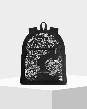 Musk Roses White Zip Backpack