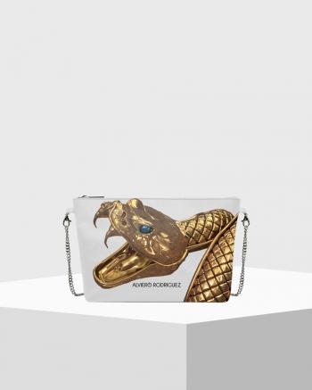 Diva Bag Bianca Gold Snake
