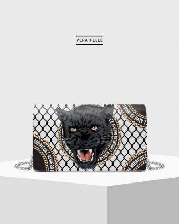 White Chain Panther bag