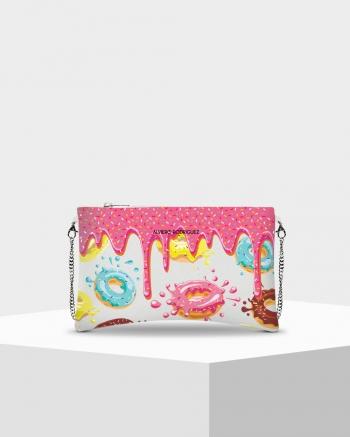 Clutch bag Noe Bianca Donuts