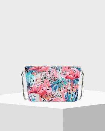 Diva Bag Bianca Flamingos