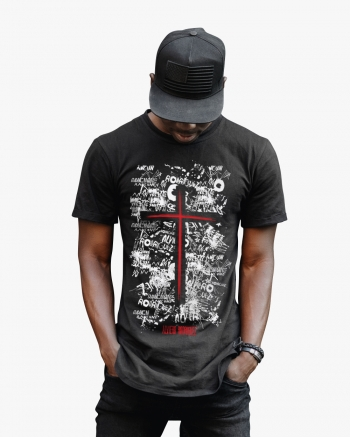 Splatter Script Men's T-Shirt