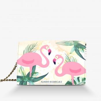 Borsa Bianca Flamingo