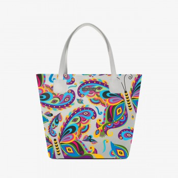 Shopper Deluxe Bianca Colorful Butterfly