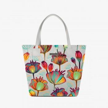 Shopper Deluxe Bianca Flower Art